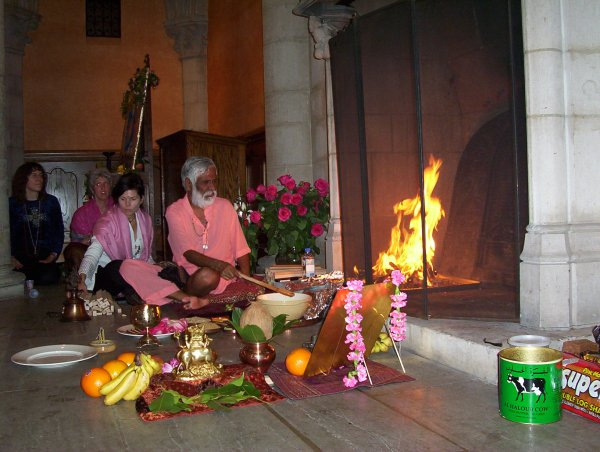 Goddess Lakshmi Appears in the Flames During A Fire Ritual Conducted by Dr Pillai (Baba)