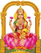 A symbolic representation of Goddess of Wealth Lakshmi.