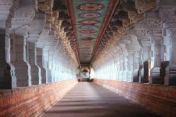 The thousand-year old corridors of the Rameshwaram Temple where Dr Pillai (Babaji) spent His childhood and youth