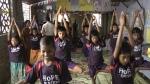 Hope Center Kids Doing Yoga(1)