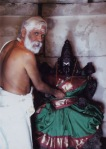 Dr Pillai  at Goddess Sundara Maha Lakshmi shrine
