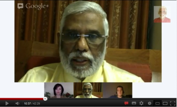 Dr Pillai (Baba)'s 3rd Eye / MidBrain Google Hangout (Click on the picture)