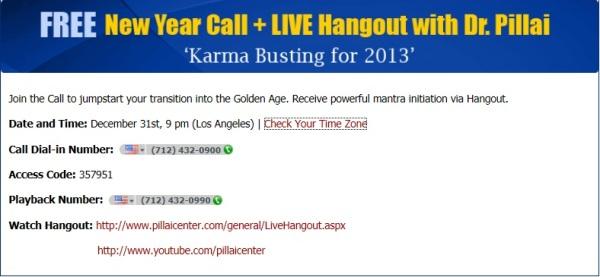 Dr Pillai's Karma Busting Call