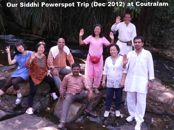 Siddhi Powers Powerspot Trip (Dec 2012) at Coutralam