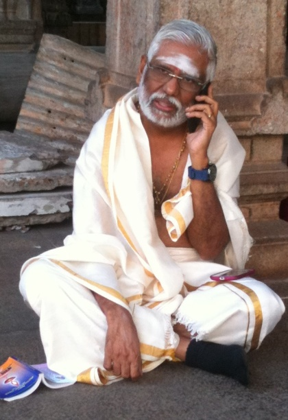 Baba speaking to His students during a LIVE call