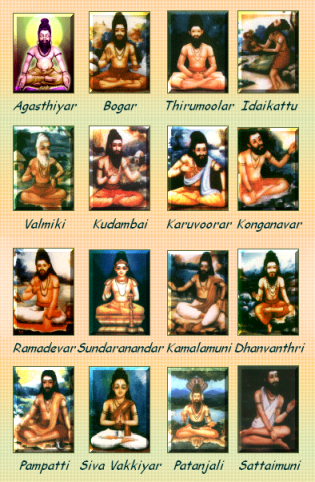 Eighteen Siddhas, Founders of Siddha System of Medicine.Image.Jpg.