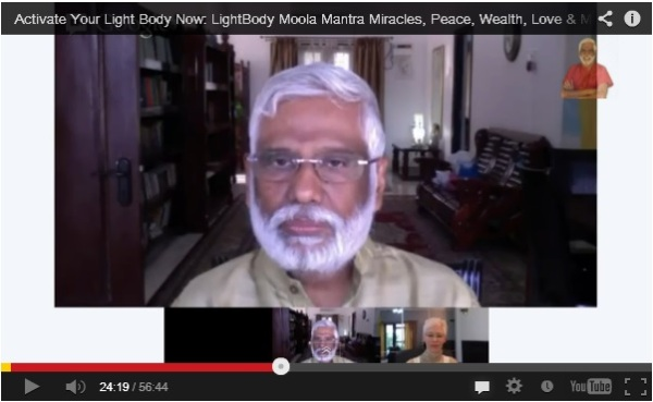 Click on Baba's picture to watch His video