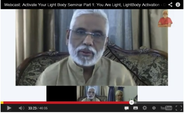 Click on Baba's picture to watch His Google Hangout on the Light Body