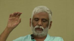 Baba giving a spiritual transmission