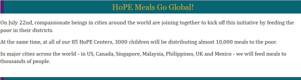 TF Million Meals Global