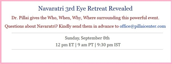 Dr Pillai Navaratri retreat