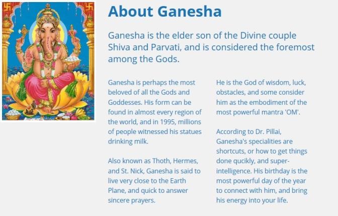 About Ganesha