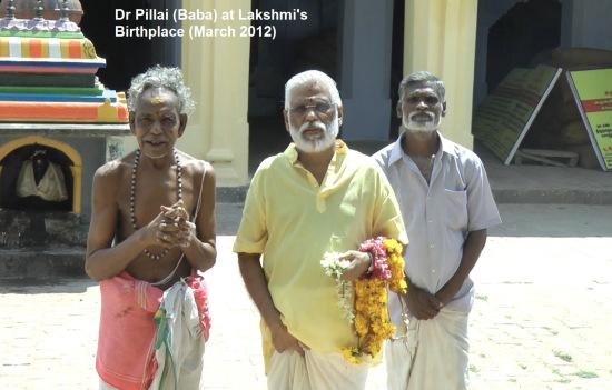 Babaji at Lakshmi's birthplace