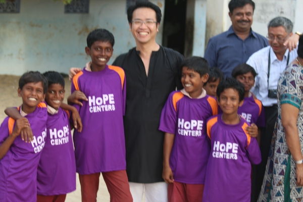 Ambassadors of HoPE HENKY with the Hope Center children