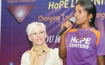 Mohini at HoPE Center Press Conference