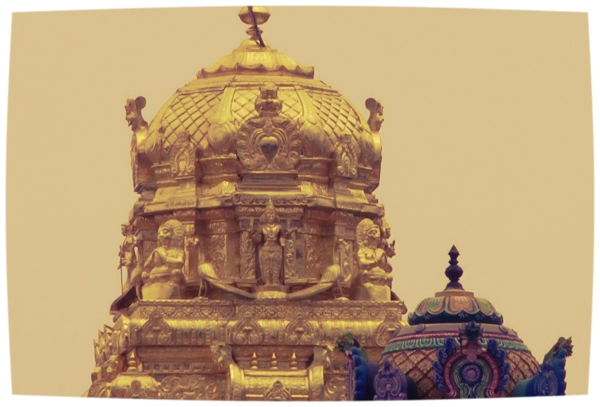 Golden Dome at Muruga's Temple at Tiruthani (ShreemArakara)
