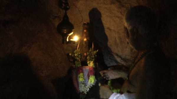 Dr Pillai at Agastya Cave @ Koutralam