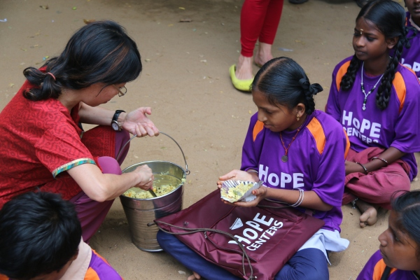 One of the Highest Forms of Grace - Serving A Hot Meal -