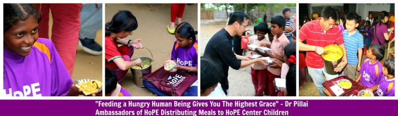 Shreemarakara Ambassadors of HoPE Distributing Meals Banner