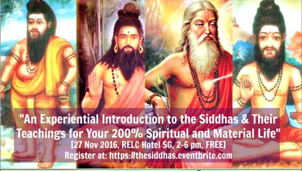 Shreemarakara The Siddhas Seminar
